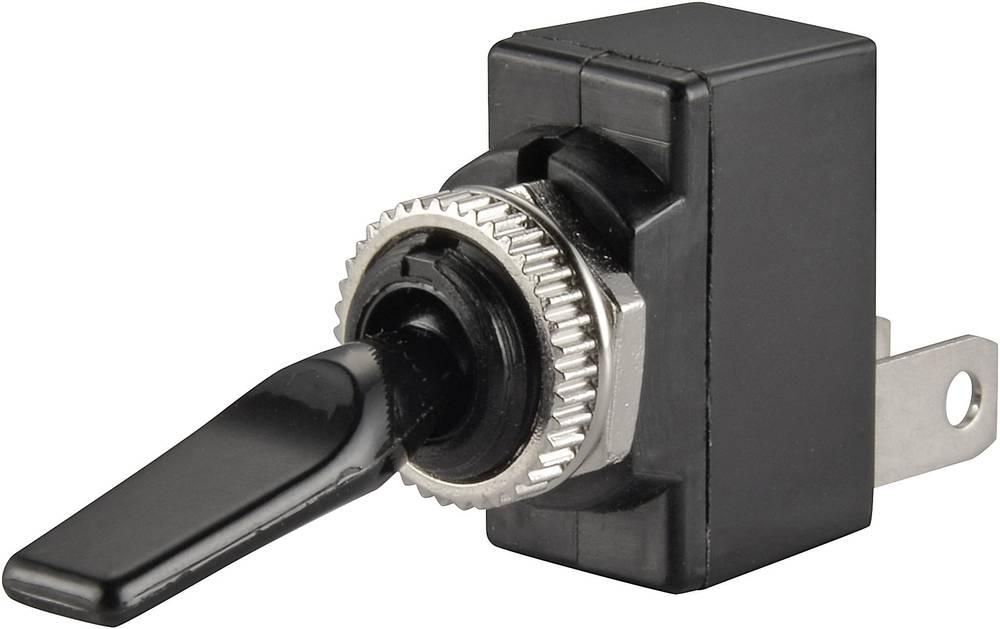 Vippeafbryder til bil TRU COMPONENTS TC-R13-18B-SQ BLACK LEVER 12 V/DC 20 A 1 x Off/On Klikkende 1 stk
