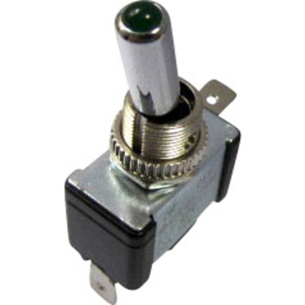 Sci Car Toggle Switch R13 404 Sq Green 12 Vdc 20 A 1 X Off On Latch Wiring In Addition Illuminated Rocker Pcs