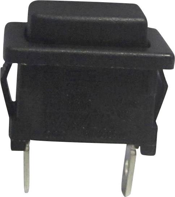 SCI R13-512B1 BLACK Latching Push Switch Sm Button Black