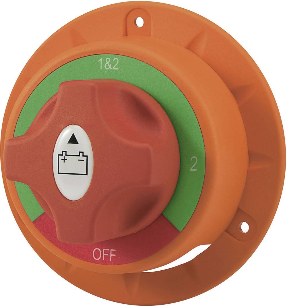 Stikalo za avtomobilski akumulator 32 V/DC 200 A 2 x izklop/vklop/vklop/vklop zaskočno TRU Components TC-A23-1 IP54 1 kos