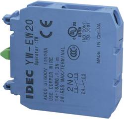 Kontaktelement 2 x sluttekontakt Tastende 240 V/AC Idec YW-EW20 1 stk