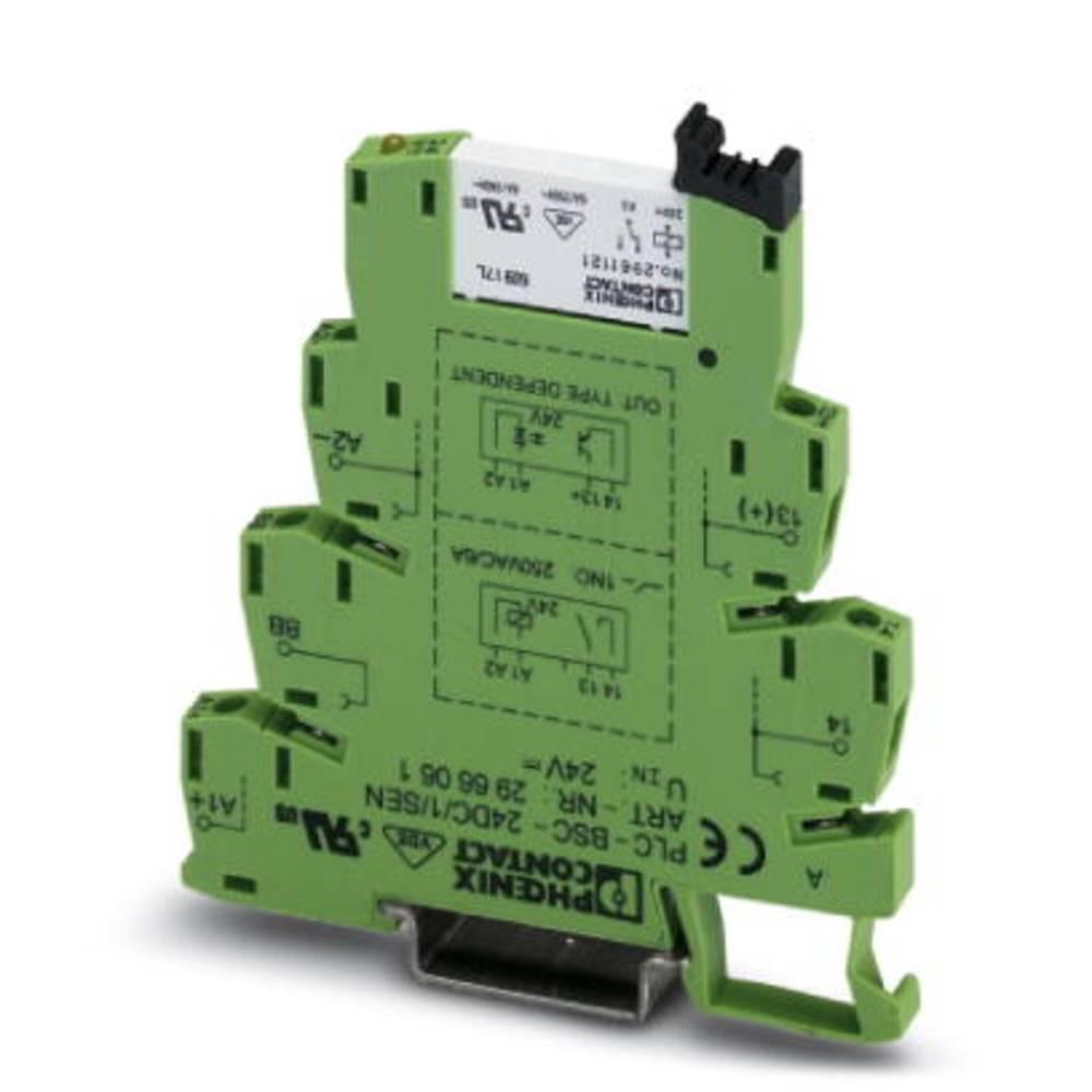Interfacerelæ 10 stk 24 V/DC 6 A 1 x sluttekontakt Phoenix Contact PLC-RSC- 24DC/ 1/SEN