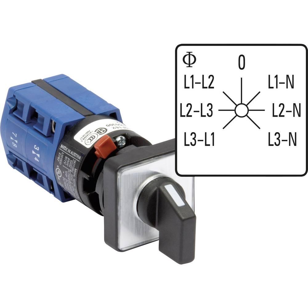 Kraus Naimer Cg4 A007 624 Fs2 Voltmeter Changeover Switch 10 A Light Wiring L1 L2 L3 Grey Black 1 Pcs