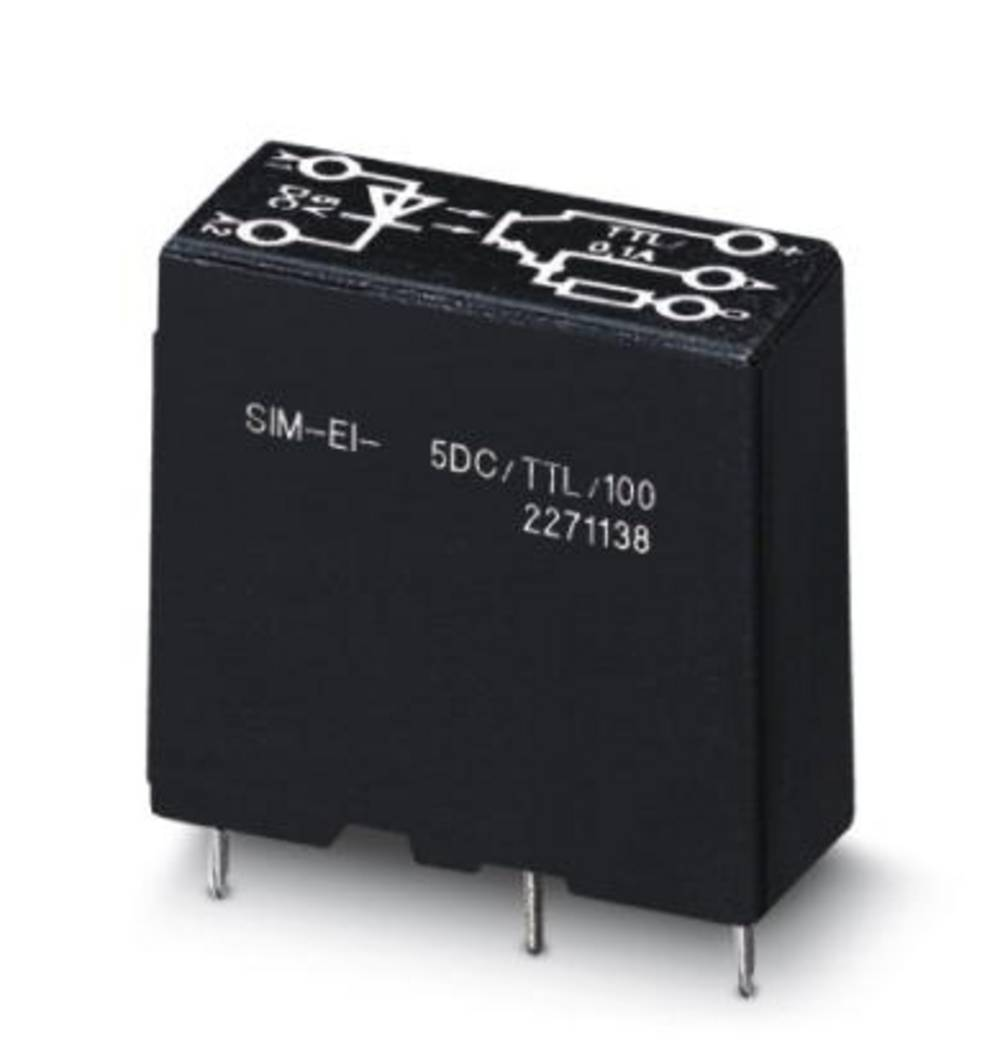 Halvlederrelæ 10 stk Phoenix Contact SIM-EI- 24DC/TTL/100 Last-Strøm (maks.): 100 mA Koblingsspænding (max.): 5.25 V/DC