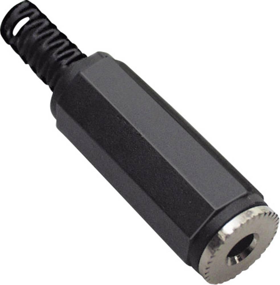 Klinken-vtični konektor, 2.5 mm vtičnica, raven, število polov: 2 Mono črne barve BKL Electronic 072206 1 kos