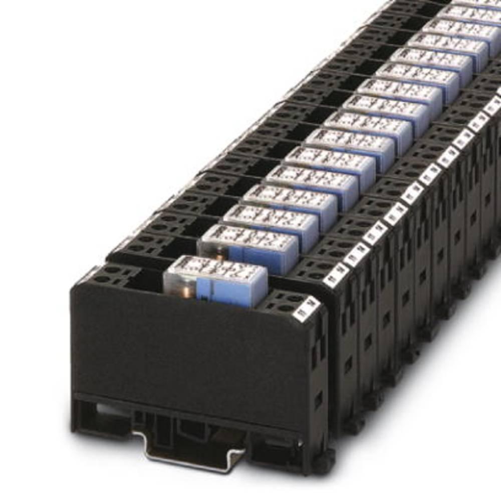 Relækomponent 10 stk Phoenix Contact EMG 17-REL/KSR-G 24/SO38 BK Nominel spænding: 24 V/DC Brydestrøm (max.): 10 A 1 x sluttekon