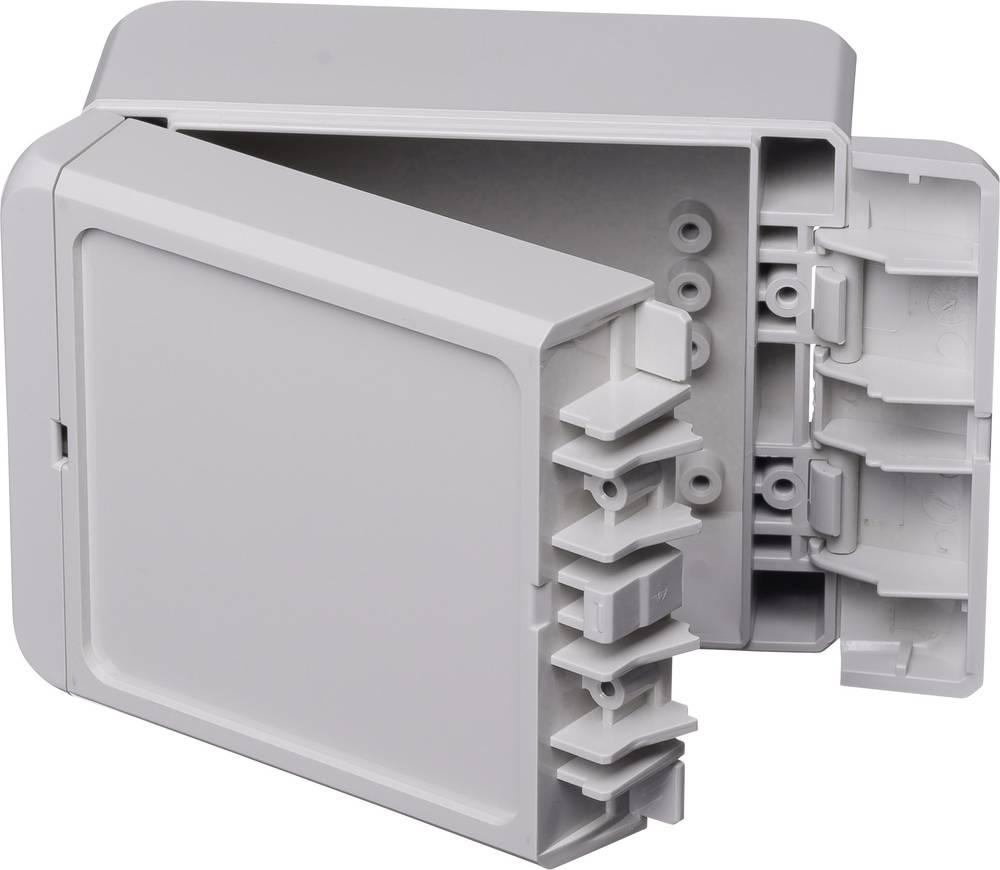 Kabinet til montering på væggen, Installationskabinet 80 x 113 x 60 ABS Lysegrå (RAL 7035) Bopla Bocube B 100806 ABS-7035 1 stk