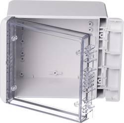Kabinet til montering på væggen, Installationskabinet 125 x 151 x 90 Polycarbonat Lysegrå (RAL 7035) Bopla Bocube B 141309 PC-V0