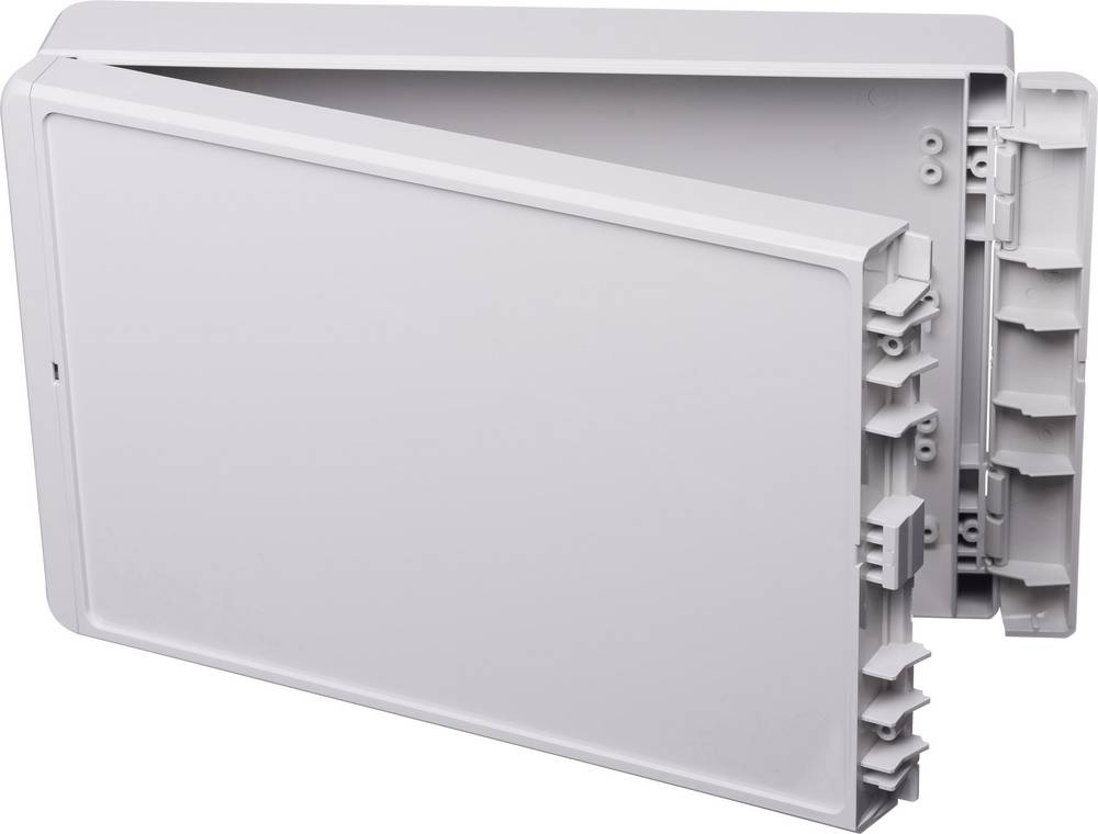 Kabinet til montering på væggen, Installationskabinet 170 x 271 x 60 Polycarbonat Lysegrå (RAL 7035) Bopla Bocube B 261706 PC-V0