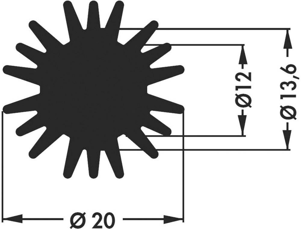 LED hladilno telo 5.8 K/W (premer x V) 20 mm x 20 mm Fischer Elektronik SK 585 20 SA