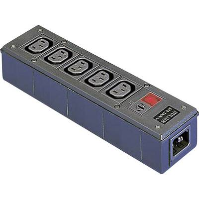 Image of Bulgin PXD301/550/01/1 IEC adapter IEC C14 plug - IEC C13 socket , IEC C13 socket , IEC C13 socket , IEC C13 socket , IEC C13 socket Black 1 pc(s)