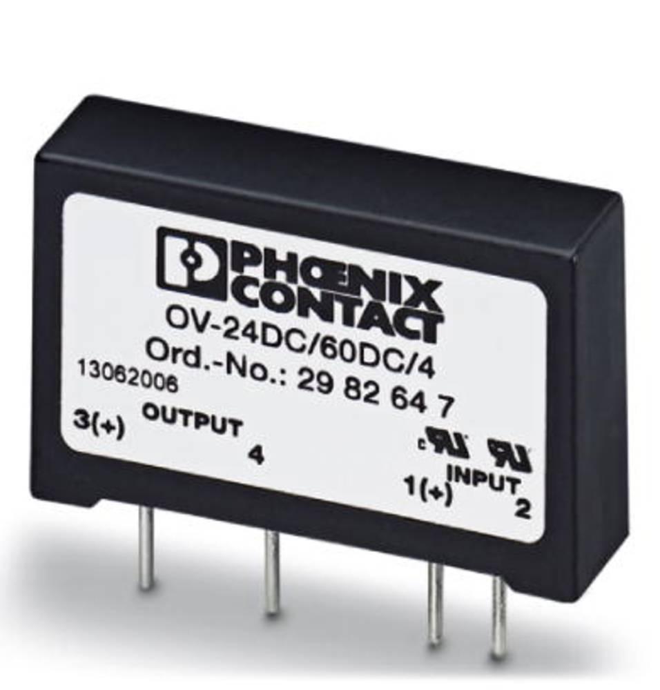 Halvlederrelæ 10 stk Phoenix Contact OV-24DC/ 60DC/4 Last-Strøm (maks.): 4 A Koblingsspænding (max.): 60 V/DC
