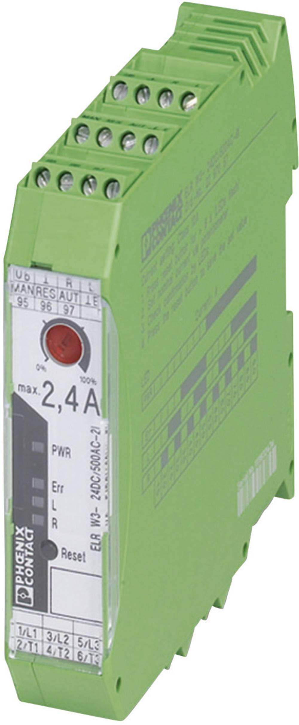 Vendekontaktor 1 stk ELR W3- 24DC/500AC- 2I-BR Phoenix Contact 24 V/DC 2.4 A