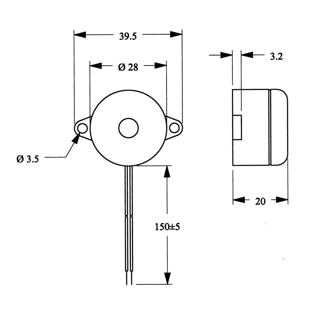 Piezo Buzzer Noise Emission 95 Db Voltage 12 V Continuous Acoustic Circuit Signal 185150 1 Pcs