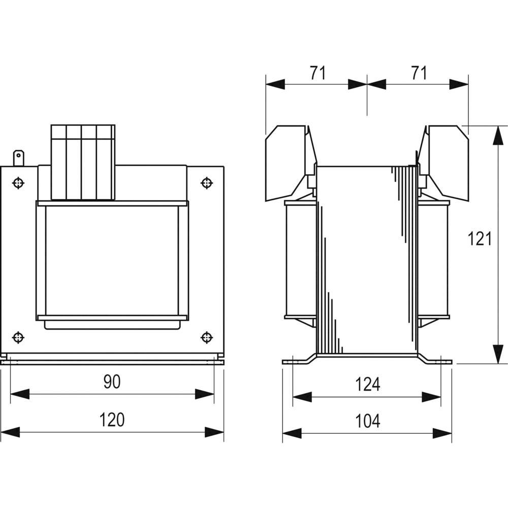 Block Steu 500 23 Safety Transformer Control Isolation Diagram Of 1 X 230 V 400 2 115 Ac Va