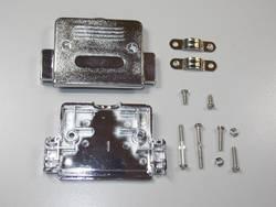 D-SUB-kabinet BKL Electronic 10120227 Poltal 50 180 ° Plastic, metalliseret Sølv 1 stk