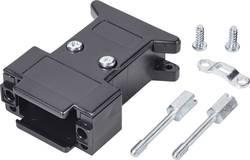 D-SUB-kabinet Poltal 15 180 ° Plastic, metalliseret Sort 1 stk