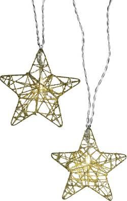 Motiv-lyskæde Polarlite Stjerner 10 LED Varm hvid 7.7 m Indvendigt via strømdrift