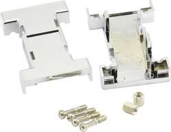 D-SUB-adapter-kabinet BKL Electronic Poltal 9, 9 180 ° Plastic, metalliseret Sølv 1 stk