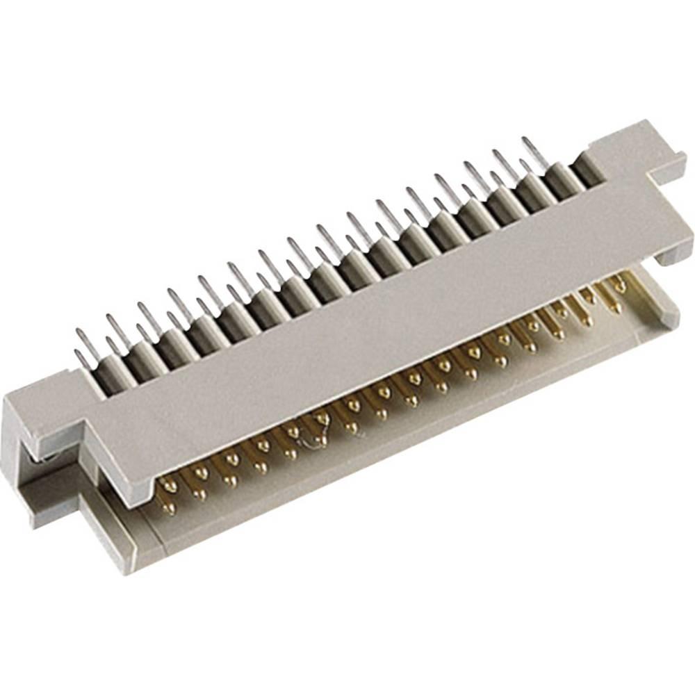 Hankonnektor DIN 41612 Type R / 2 48M abc 4 mm straight Samlet poltal 48 Antal rækker 3 ept 1 stk
