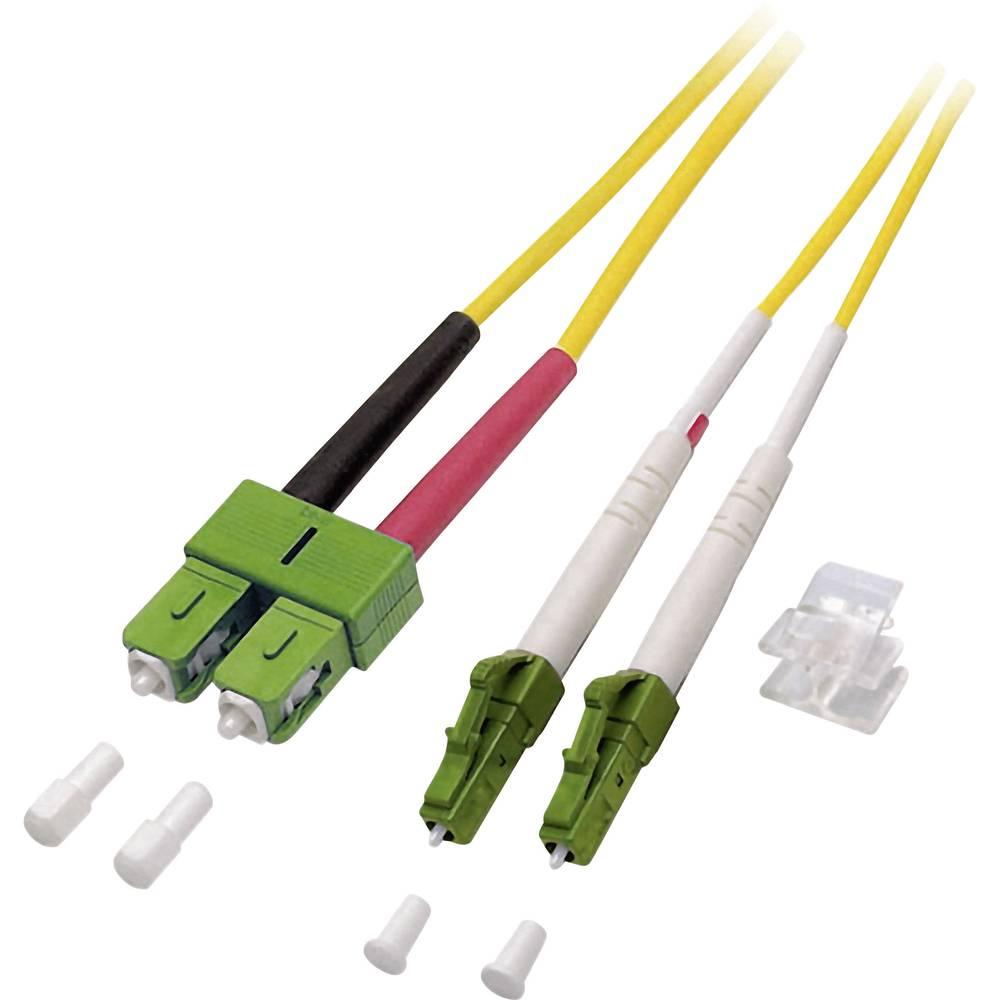 Optični priključni kabel [1x LC/APC 8° vtič - 1x SC/APC 8° vtič] 9/125µ Singlemode OS2 15 m EFB Elektronik