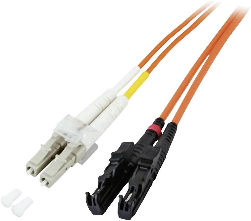 Optični priključni kabel [1x LC vtič - 1x E2000® vtič] 62,5/125µ Multimode OM1 15 m EFB Elektronik