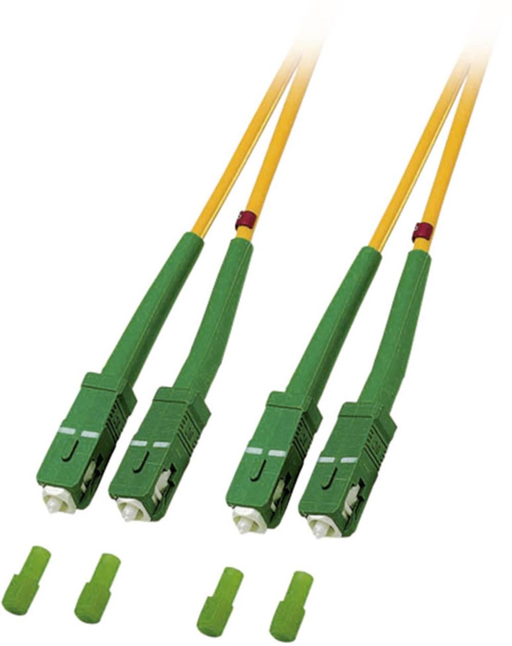 Optični priključni kabel [1x SC/APC 8° vtič - 1x SC/APC 8° vtič] 9/125µ Singlemode OS2 5 m EFB Elektronik