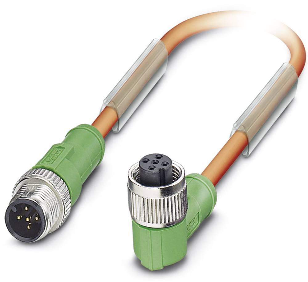 Sensor-, aktuator-stik, Phoenix Contact SAC-5P-M12MS/ 0,6-PUR/M12FR VW 1 stk