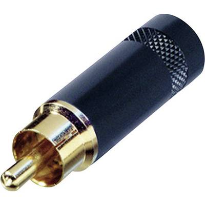 Image of Rean AV NYS352BG RCA connector Plug, straight Number of pins: 2 Black 1 pc(s)