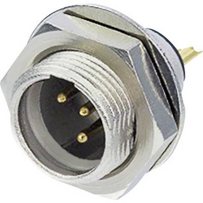 Image of Rean AV RT4MPR XLR connector Plug, vertical mount Number of pins: 4 Silver 1 pc(s)