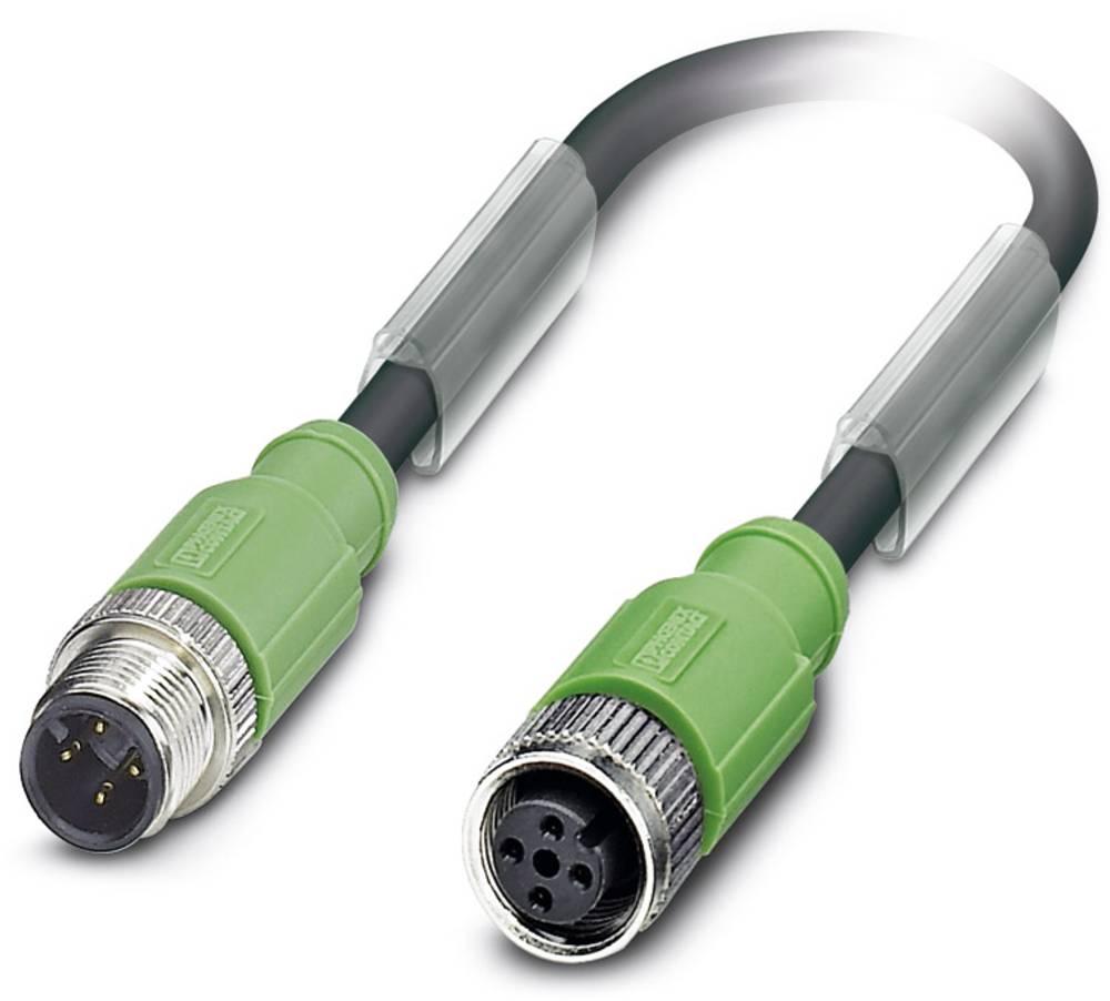 Sensor-, aktuator-stik, Phoenix Contact SAC-4P-M12MS/ 1,5-PUR/M12FS SH 1 stk