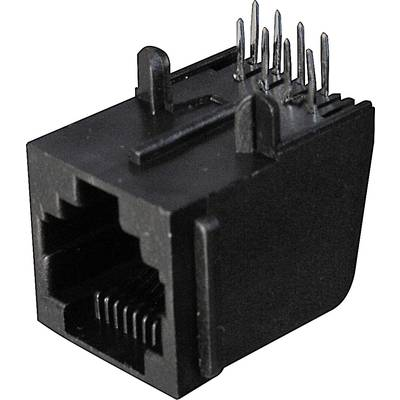 Image of ASSMANN WSW A-20040 Modular Jack 4 RJ10 Socket, horizontal mount Black