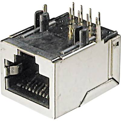 Image of ASSMANN WSW A-20042-LP/FS Mounted Modular Socket 8 RJ45 Socket, horizontal mount Silver