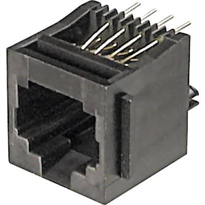 Image of ASSMANN WSW A-20142 Mounted Modular Socket 8 RJ45 Socket, vertical vertical Black
