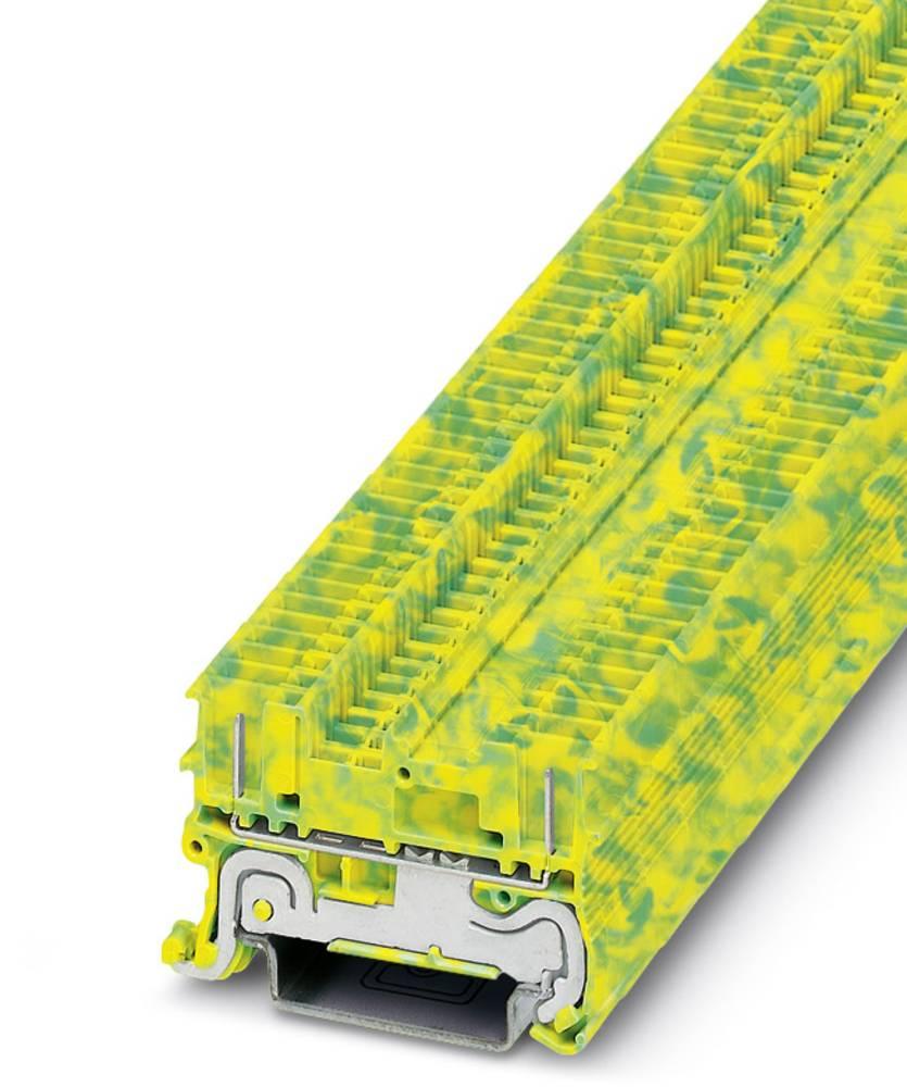 PT 1.5 / S / 2P-PE - beskyttelsesleder klemrække Phoenix Contact PT 1,5/S/2P-PE Grøn-gul 50 stk