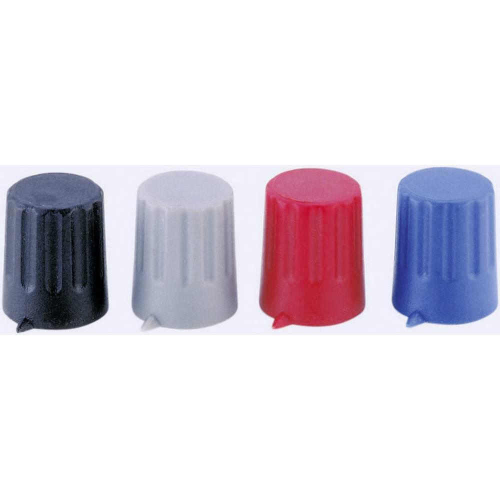 Strapubox gumb sa indikatoromKNOPF JAC 12/6 mm črn crna promjer osi 6 mm