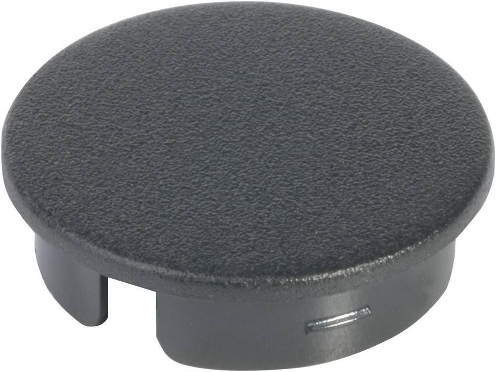 OKW Poklopac za okrugli gumb promjera 13, 5 mm crna