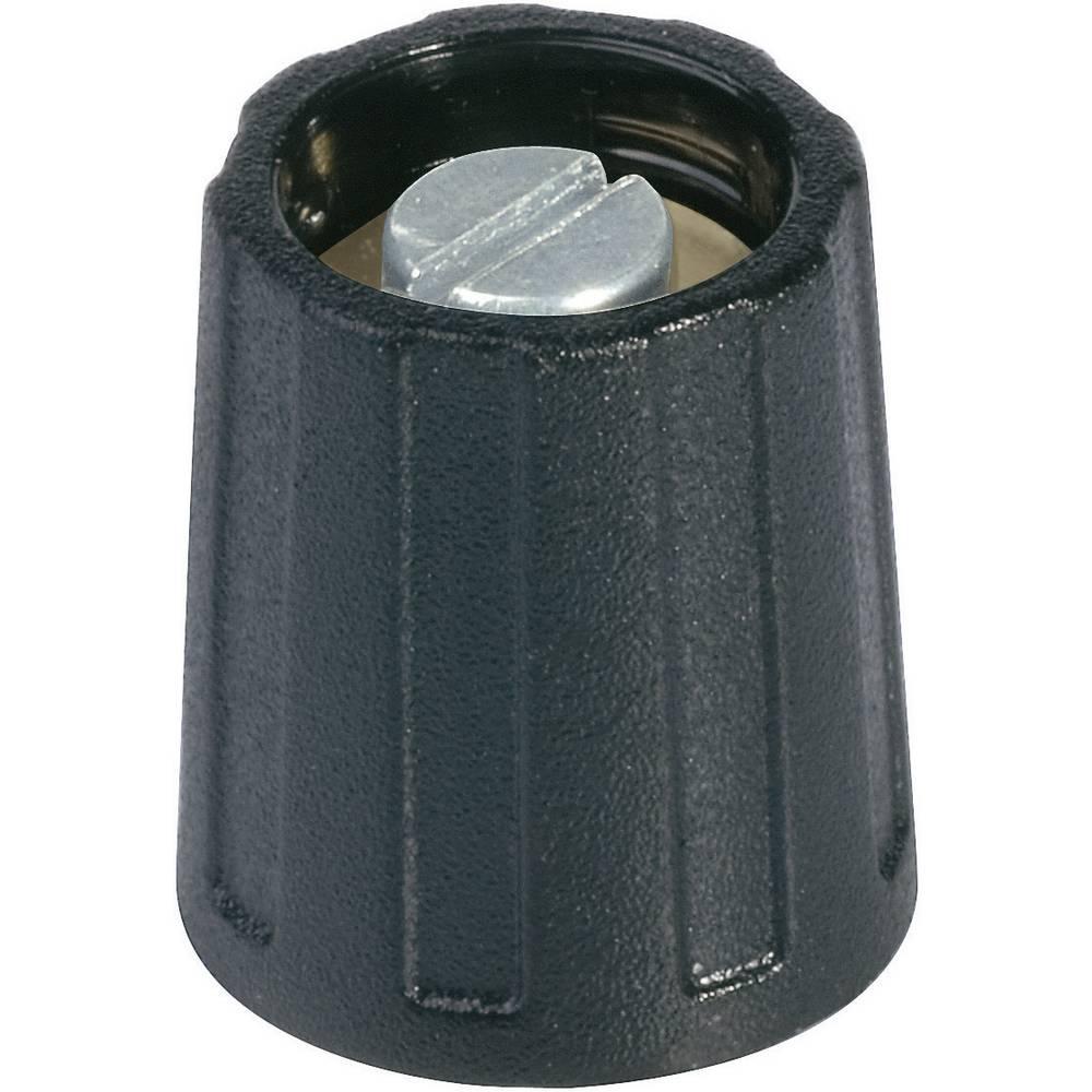 OKW Okrugli gumb promjera 23 mmcrni promjer osi 6 mm