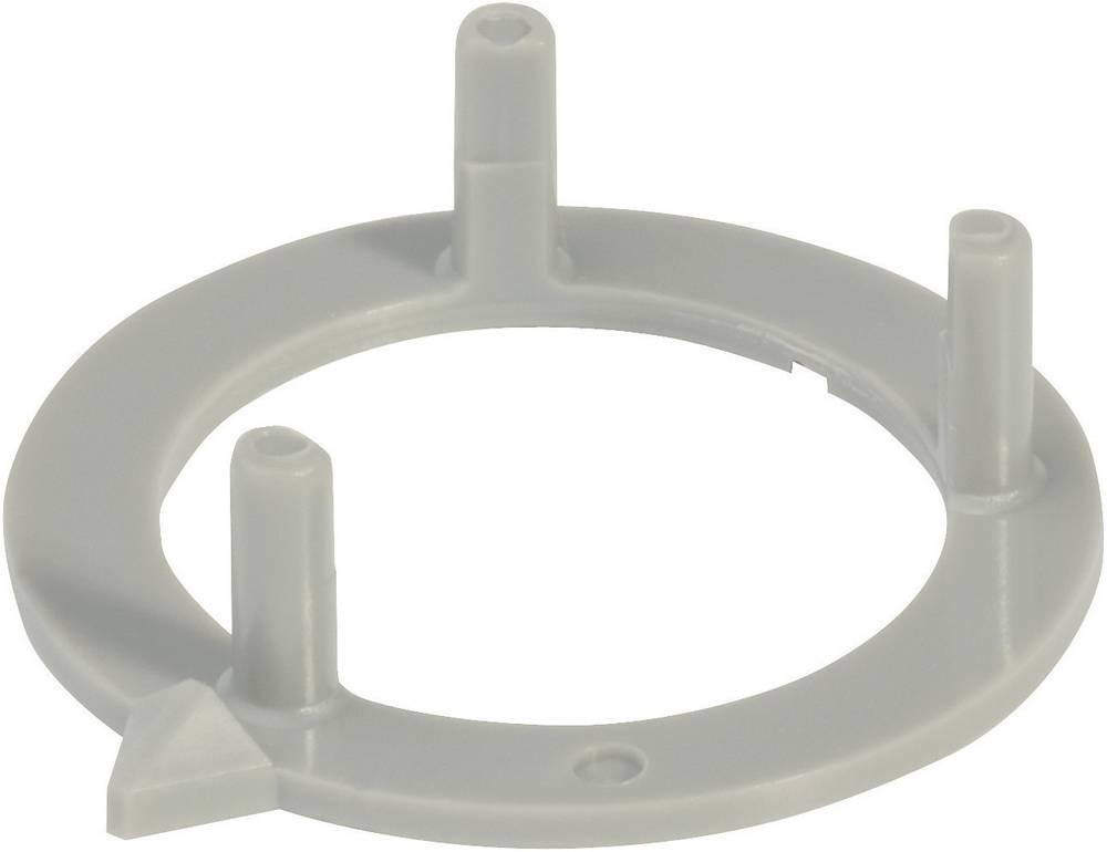 OKW Pločica s indikatorom za okrugli gumb promjera 16 mm Siva