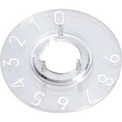 Pločica sa skalom za okrugli gumb promjera 10mm OKW