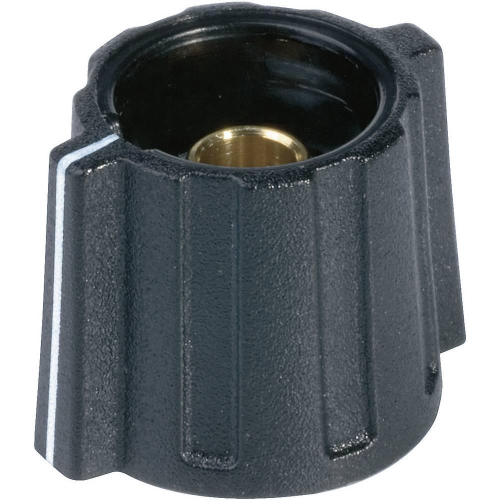 OKW Okrugli gumb s promjerom 16 mm crna promjer osi 6 mm
