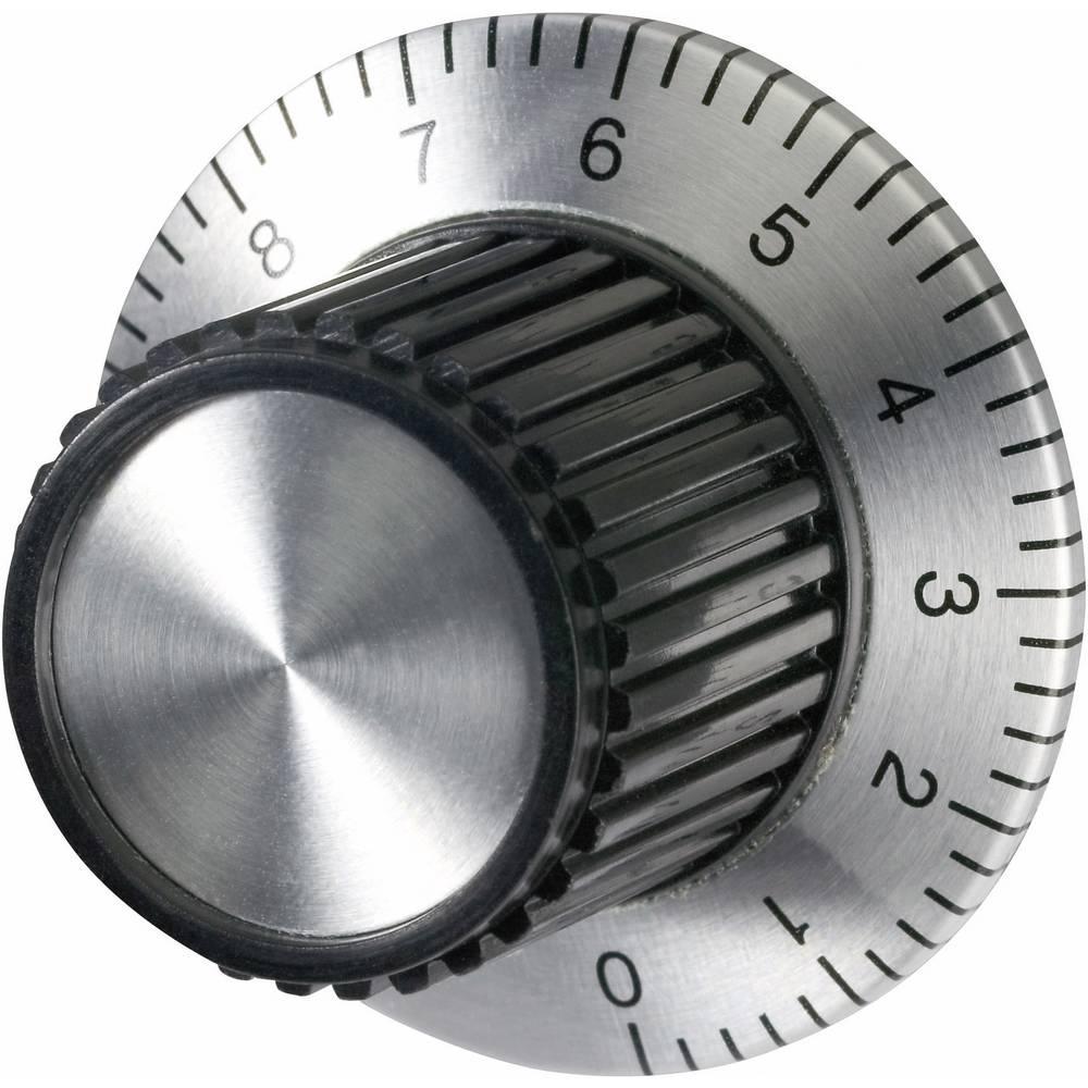 Univerzalni gumb za uređaje sljestvicom eloksiran aluminijpromjer osi 6