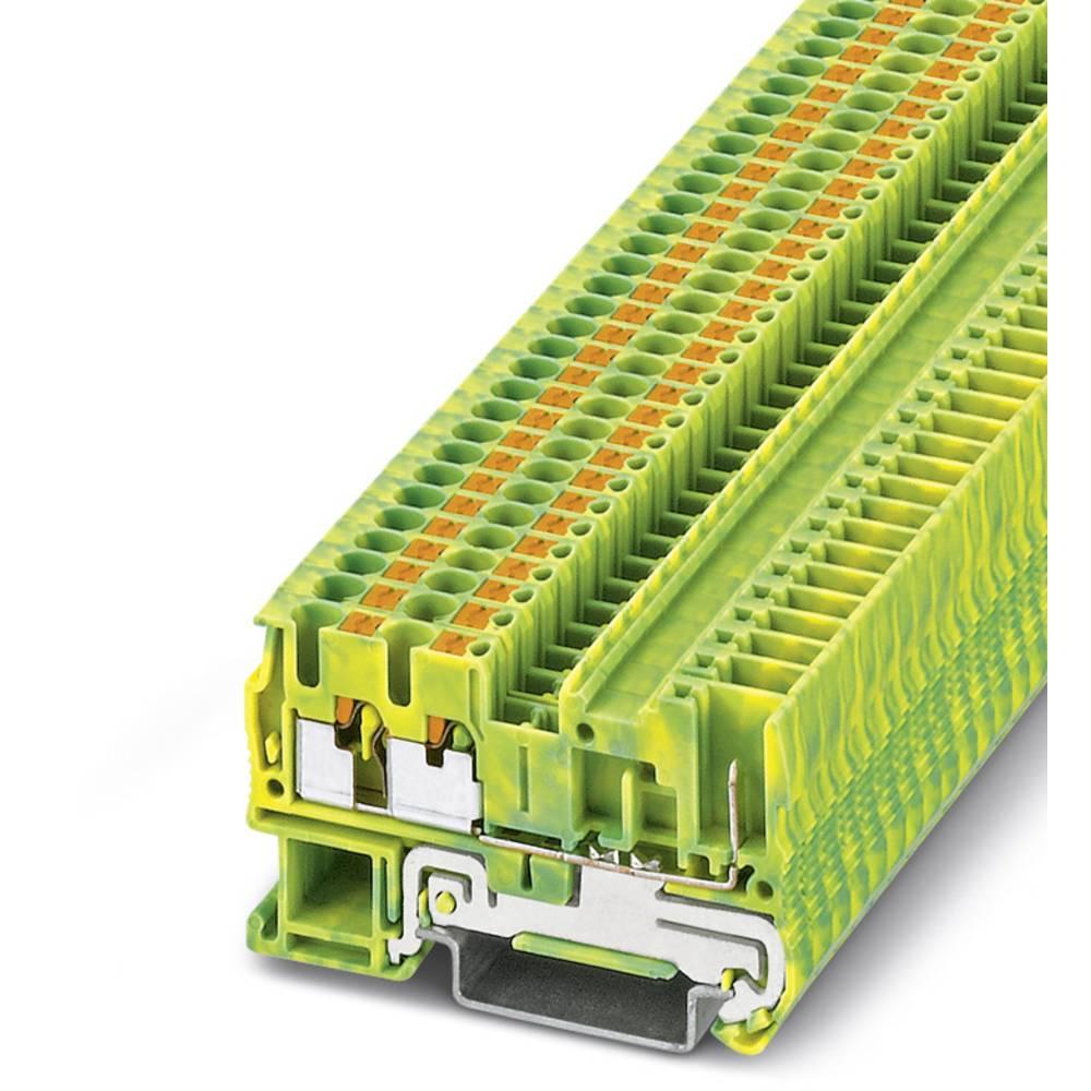 PT 2,5-TWIN / 1P-PE - beskyttelsesleder klemrække Phoenix Contact PT 2,5-TWIN/1P-PE Grøn-gul 50 stk