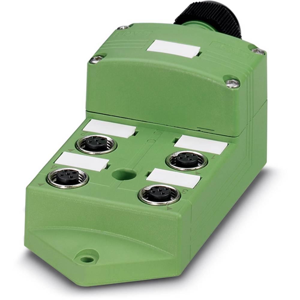 Sensor/aktorbox passiv M12-fordeler med metalgevind SACB-4/ 8-C SCO SELECT 1437258 Phoenix Contact 1 stk