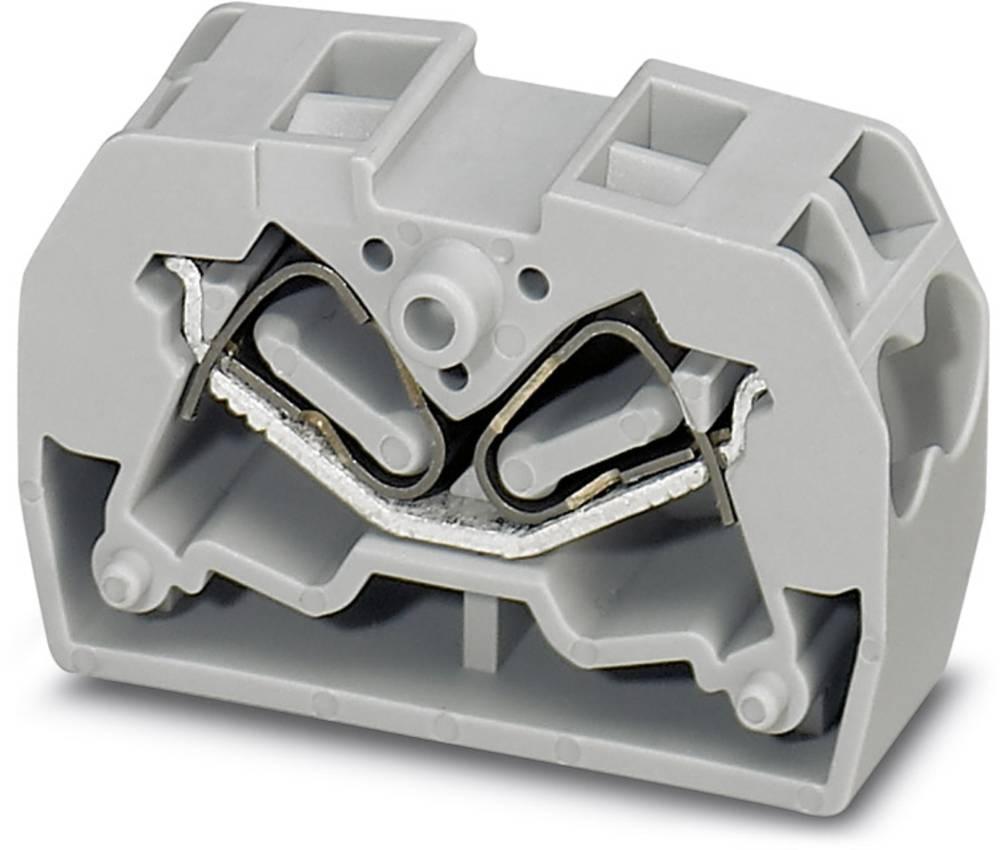 MSDBV 2,5 F - Dobbelt Mini flange Phoenix Contact MSDBV 2,5-F Grå 50 stk