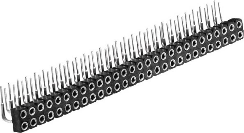 Bøsningsliste (præcision) W & P Products 257-006-4-50-00-6 1 stk