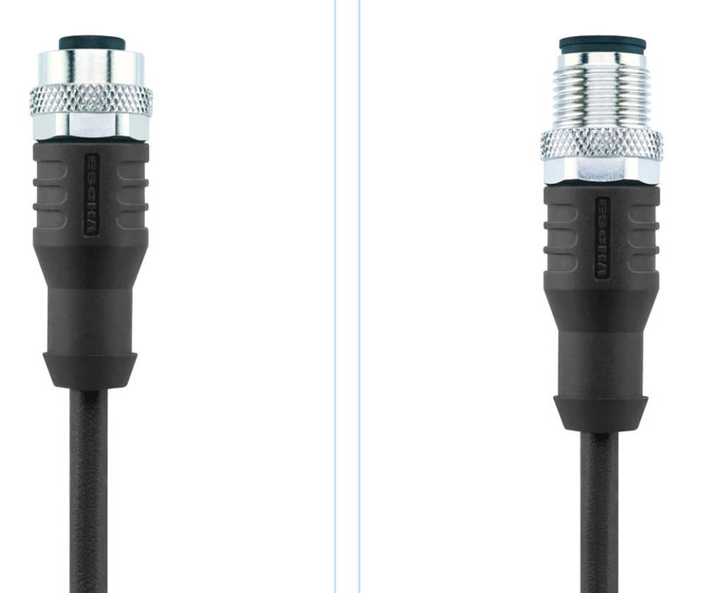 M12 Senzorsko-aktuatorski kabel št.polov: 8 AL-WAK8-5-AL-WAS8/S370 Escha vsebina: 1 kos