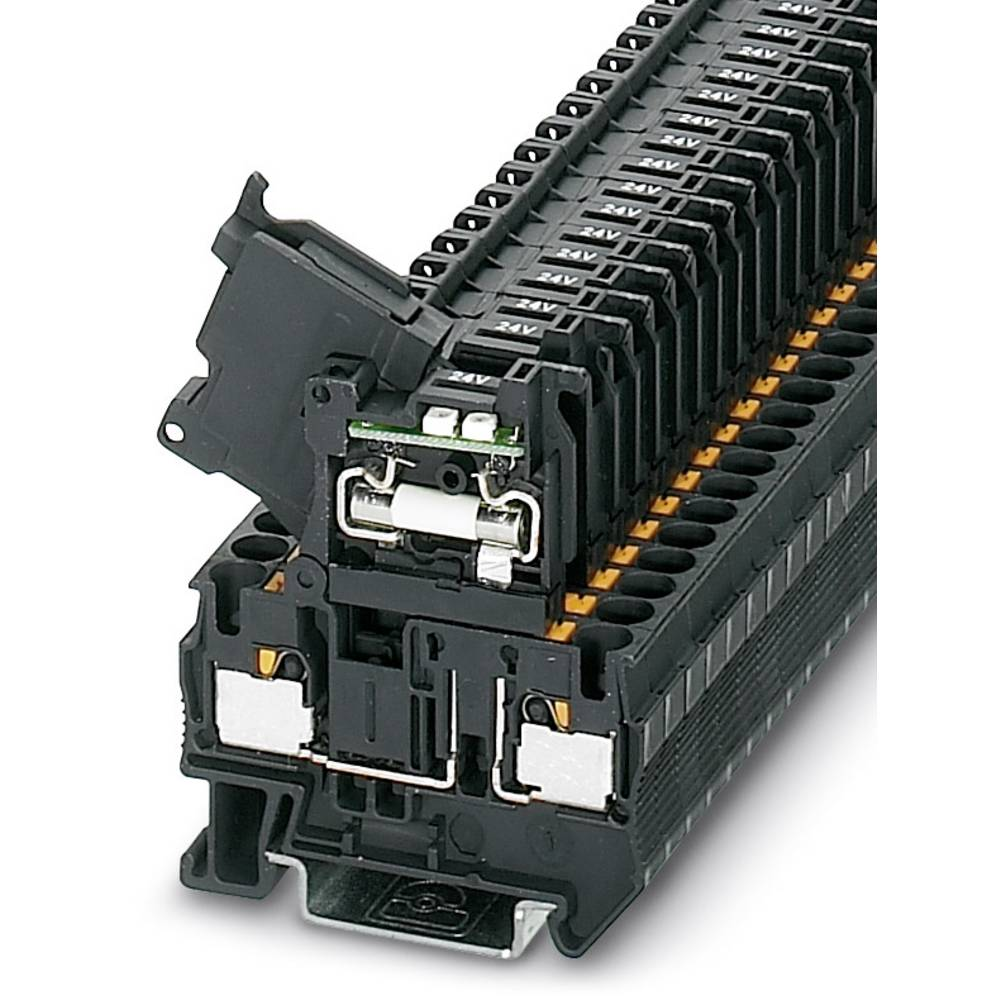 PT 4-HESILED 60 (5X20) - fuse terminal Phoenix Contact PT 4-HESILED 60 (5X20) Sort 50 stk