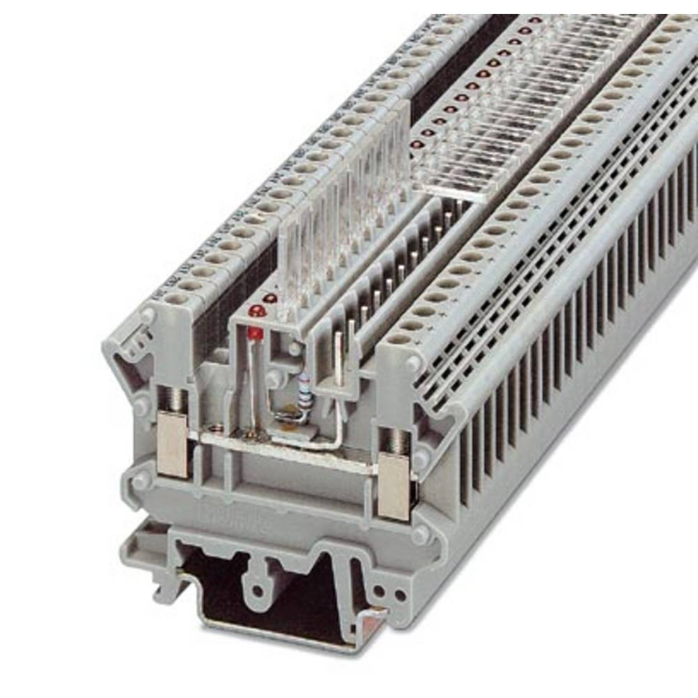 UK 3D MSTBV-5,08 - gennem terminal Phoenix Contact UK 3D-MSTBV-5,08 Grå 50 stk