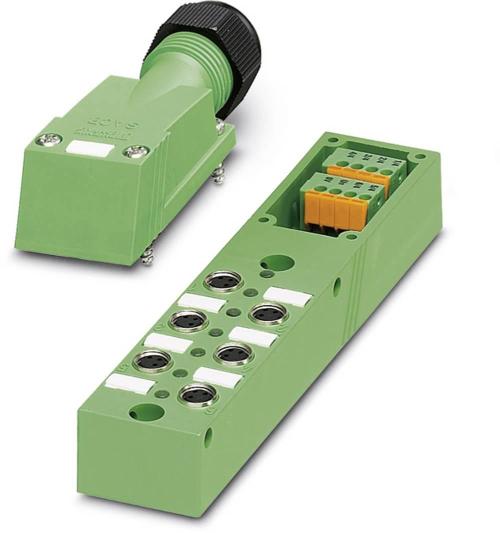 Sensor/aktorbox passiv M8-fordeler med metalgevind SACB- 6/3-L-SC-M8 1503399 Phoenix Contact 1 stk